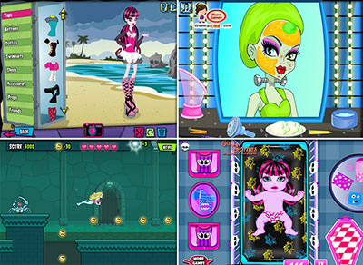 Ігри монстер хай для дівчат